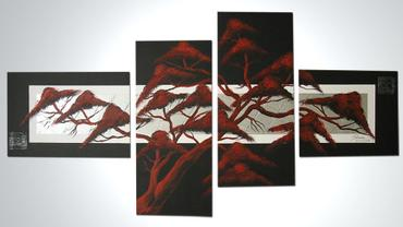 DRZEWO BLACK RED - 150x70cm