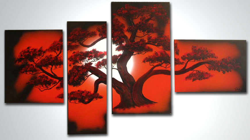 BONSAI RED - 120x70cm
